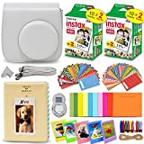 Fujifilm Instax Mini Twin Pack Instant Film -5 pack (100 sheet) for Fujifilm Instax Mini 7s, Mini 8, Mini 25, Mini 50S, Mini 90, SP-1 & SP-2 Smartphone Printers + HeroFiber Ultra Gentle Cleaning Cloth by HeroFiber