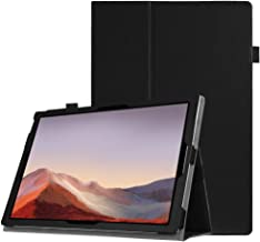 Fintie Surface Pro 7 / Pro 6 Case - Premium Vegan Leather Slim Fit Folio Cover with Stylus Holder, Compatible with Microsoft Surface Pro 5 / Pro 4 / Pro 3 and Type Cover Keyboard (Black)