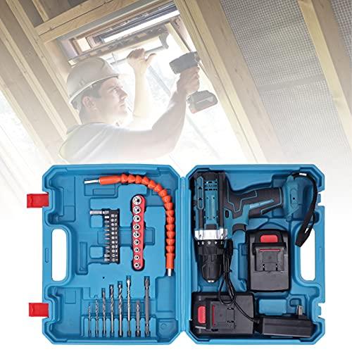 Atornillador de impacto de carga, durabilidad y estabilidad Taladro manual eléctrico de 2 engranajes Taladro manual eléctrico para destornillador eléctrico para taladro manual eléctrico(transparency)