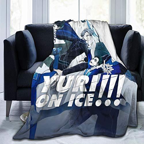 HJFRDVBNT Yuri On Ice Picnic Blanket Ultra-Soft Micro Fleece Blanket Funny 50'x40'