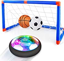 Baztoy Pallone Calcio Fluttuante, Giocattoli Bambini Palla Ricaricabile da Casa con Luci LED Hover Soccer Ball Interno...