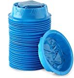 [30 Pack] Premium Emesis Vomit Bags   Disposable Blue Leakproof Vomiting Barf Bags, Car, Motion, Sea & Air, Morning Sickness   Convenient Ring Closure System  Perfect for Pregnant Women& Sick Children