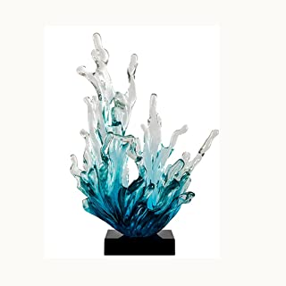 WZHZJ Modern Resin Sculpture Decoration Home Livingroom Accessories Crafts Club Hotel Lobby Desk Figurines Ornaments