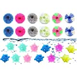 24 Pieces Pet Hair Remover for Laundry and Solid Colorful Laundry Ball, for Laundry Lint Remover Washing Balls Reusable Dryer Balls Washer from Dogs and Cats