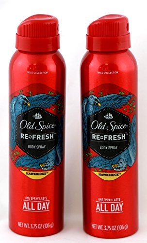 Old Spice Refresh Body Spray, Hawkridge 3.75 oz (Pack of 2)