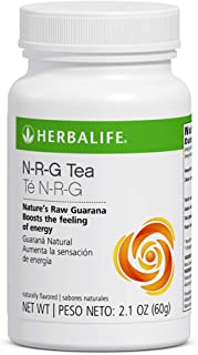 Herbal N-R-G Nature's Raw Guarana Tea Mix 2.12 Fl Oz Caffeine Energy Booster Powder