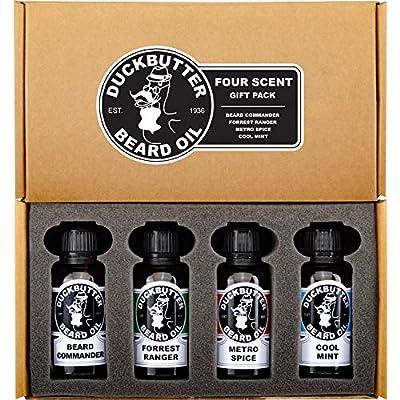 DUCKBUTTER Duck Butter Beard Oil - Natural & Organic 4-Pack Boxed Gift Set - BEST DEAL! from Rexx Labs