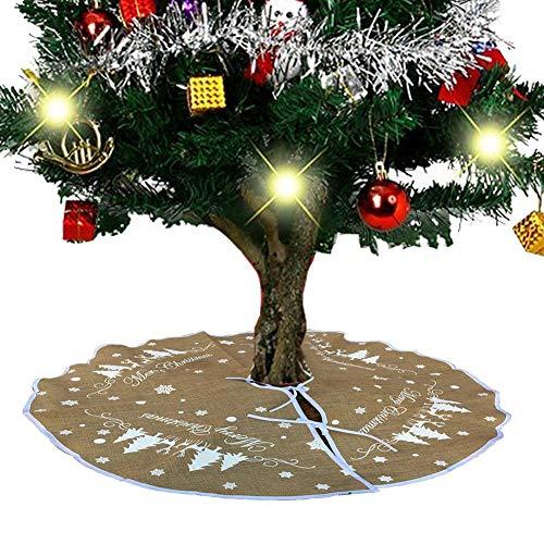 Hearthrousy Weihnachtsbaum Rock 30 Zoll Baummatte für Weihnachten Tannenbaumdecke Christbaumständer Teppich Rund Weihnachtsdecke Weihnachtsdekoration für Weihnachten, Party