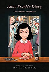 graphic novel cover of anne frank red shirt