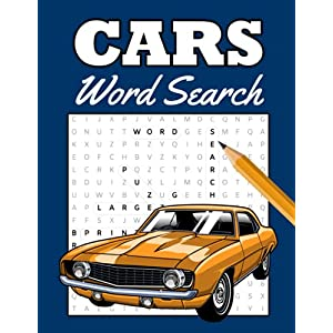 Cars Word Search: Puzzle Book for Adults, Gifts for Car Lovers, Automobile Themed Puzzle Wordsearch   Large Print