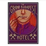 The Grand Budapest Hotel Movie Classic Comic Canvas Painting Picture para la decoración del hogar de la sala de estar-20x30 pulgadas Sin marco (50x75cm)