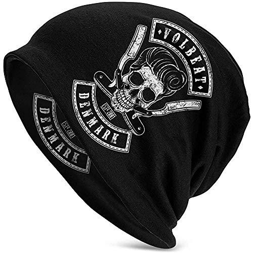Mamihong Stilvolle Volbeat Adult Herren Strickmütze Muster Baggy Cap Hedging Kopf Hut Top Level Beanie Mütze 2369854-KMB-15011