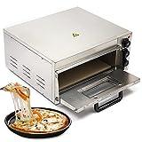 Forno elettrico per pizza professionale, in acciaio inox, 1 camera da letto, ca. 50-350 °C