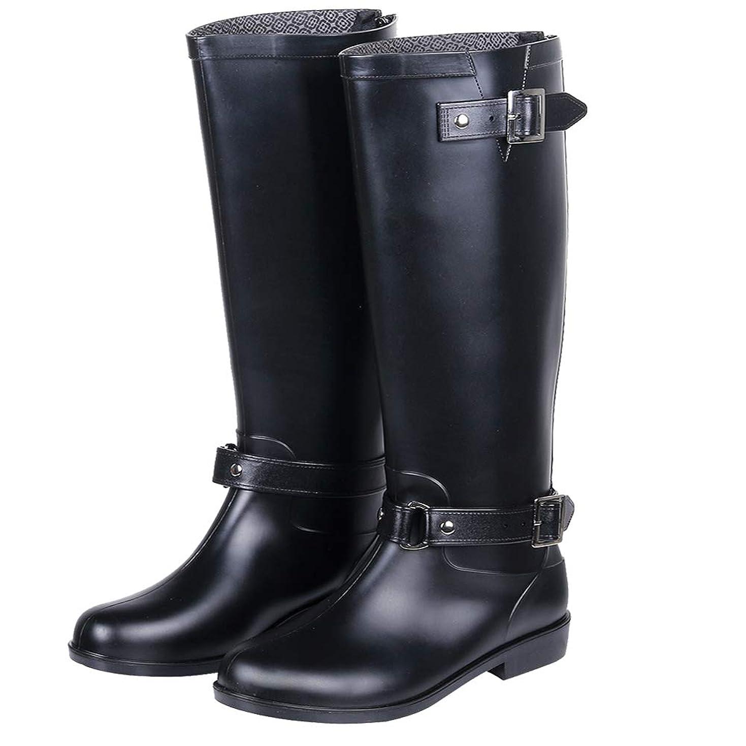 ブロー強調する馬鹿[Smiry] 長靴 レディース レインブーツ ロングブーツ 大きいサイズ ラバーブーツ 防水 シューズ