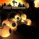 Lwind Halloween Eyeball String Lights, Battery Operated String Lights for Halloween Decorations (Eye)
