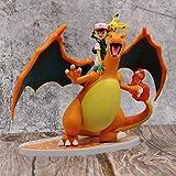 JGUSVYT Figuras de Charizard Ash Ketchum, Figura de Acción de Combinación de Pokémon, Figura de Anim...