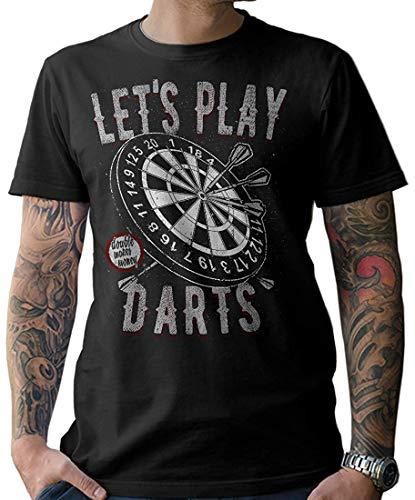 NG articlezz Herren T-Shirt Shirt Let´s Play Darts Dartscheibe Oldschool