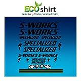 Ecoshirt 46-W1LL-5ODA Aufkleber Stickers S Works Specialized Aufkleber Decals Autocollants Adesivi R84, Schwarz