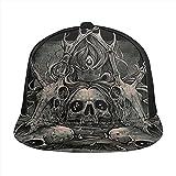 HARLEY BURTON Gorra de béisbol unisex impresa plana facturada gorras oscuras cráneo ciervos ajustable empalme Hip Hop Cap sombrero de sol negro