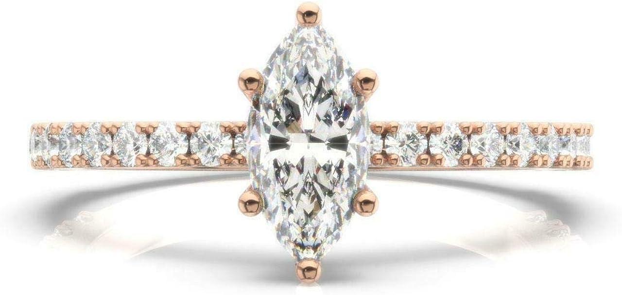 PB Collection Wholesale Marquise Cut Sim Bridal Wedding OFFicial site Engagement Diamond