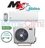 CONDIZIONATORE CLIMATIZZATORE INVERTER MONO SPLIT MX3 BY MIDEA XDL 12000 BTU GAS R32 A++ A+