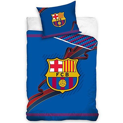 Fußball Bettwäsche FC Barcelona FCB FCBarcelona BARCA FCB164002 Bed Linen Football 140x200 cm + 70x80 cm