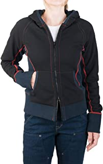 Hoodie Jacket for Women: Rugged Heavy-Weight Lined French Terry with Contrasting Stitch Detail