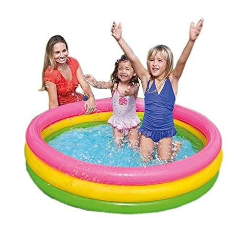 Piscina para Niños Piscina Inflable Adecuada para Niños Familia, Jardín, Colocación Rápida Interior Y Exterior (Color : Color, Size : 114 * 25cm)