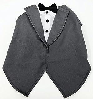 زي تنكري للكلاب من سيلفر بو PGPT5179 لحفلات الزفاف، مقاس متوسط، سترة رسمية