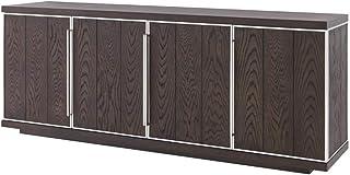 Casa Padrino aparador 4 Puertas marrón/Plata 200 x 495 x H. 78 cm - Armario de Sala de Estar - Armario de Oficina - Cómod...