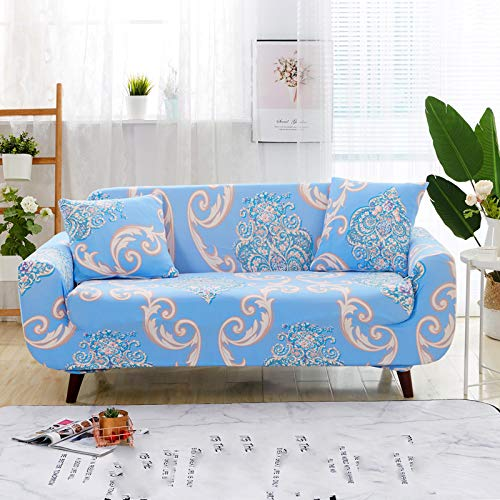 European Style Light All-Inclusive Sofa Cover, Fashion Printed Stretch Sofa Towel Non-Slip, Wrinkle-Resistant And Pet-Scratching Sofa Chair Cover Hotel Restaurant Study