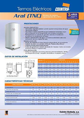 Cointra TNC-150 - Termo Eléctrico Vertical Tnc150 Con Capacidad De 150 Litros
