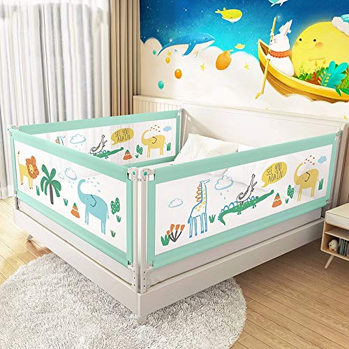 Great Deal! WLPOY Kids Bed Rail Fence Crib Anti-Fall Bed Railing Safety Protection Vertical Lift Bed...