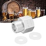 Adaptador de Cilindro de Soda para el hogar Regulador de Barril de Cerveza casero W21.8 a TR21.4, Adaptador de Cilindro de Soda, Accesorios para el Fabricante de Soda de CO2