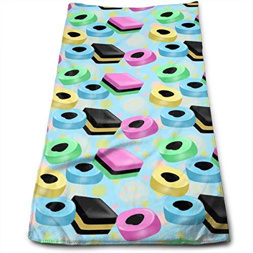 Sula-Lit Lakritz Allsorts Badetuch Handtuch Mikrofaser Handtuch für Strand, Reisen, Schwimmen, Pool, Camping, Outdoor und Sport, 30 x 70 cm