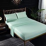 YDyun Protector de colchón Acolchado - Microfibra - Transpirable - Funda para colchon estira hasta Bordado Bordado en Color Puro