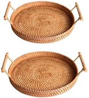 Panier de rangement de copeaux de bois tissé main en rotin Panier de rangement de bureau Boîte de rangement snack Panier d...