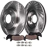 Detroit Axle - 262mm Front Disc Rotors + Brake Pads Replacement for Acura EL Honda Civic Insight - 4pc set