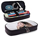 DFHSDD Astuccio Pencil Case Multifunction Pen Bag Leather Pencil Case A-Riana G-rande Pen Pouch Stationery Bag Office Portable Storage Kit Cosmetic Box Holder