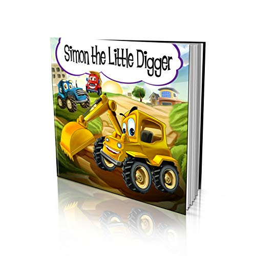 Personalized Story Book by Dinkleboo - 'The Little Digger Story' - Teaches Your Child About Teamwork - For Children Aged 2 to 8 Years Old - Soft Cover - Smooth, Glossy Finish (8'x 8')