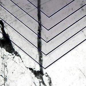 5 piezas, A3 42x30cm - 1,8mm grueso Placas de PC (policarbonato) incoloras y a prueba de rotura, de diferentes tamaños y cantidades, con lámina de protección por ambos lados