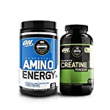 Optimum Nutrition (ON) Micronized Creatine Monohydrate Powder - 300 Grams (Unflavoured) and Amino