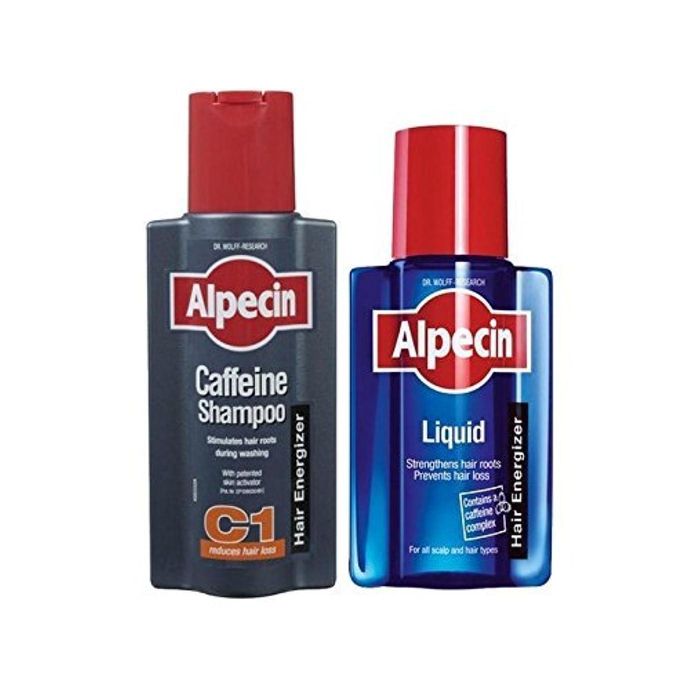 マグ絡み合い明らかAlpecin Liquid And Caffeine Shampoo Duo - 液体とカフェインシャンプーデュオ [並行輸入品]