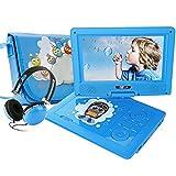 """Lecteur DVD portable FUNAVO de 9.5"""", écran pivotant, batterie rechargeable de 5 heures, prend en charge les cartes SD, port USB, formats de lecture directe AVI /RMVB/ MP3 / JPEG"""