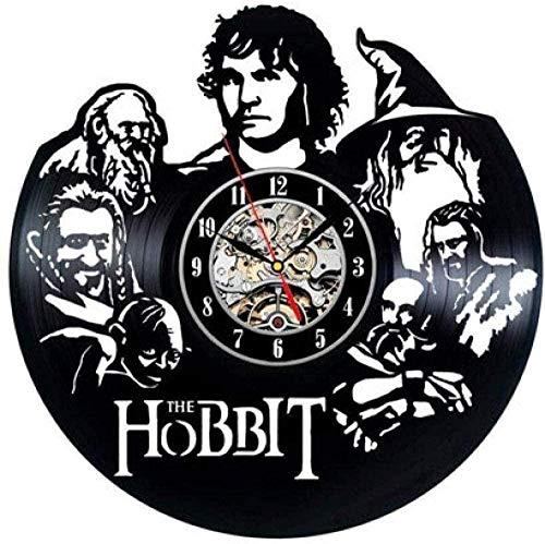 hhhjjj Reloj de Pared de Vinilo Reloj de grabación Reloj de Vinilo de 12 Pulgadas-película fantasía Aventura Creativa decoración del hogar Reloj Retro