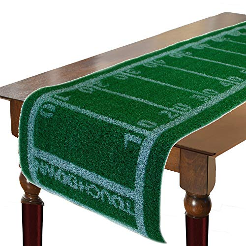 Football Turf Table Runner, Table Decoration for Party, Tailgate