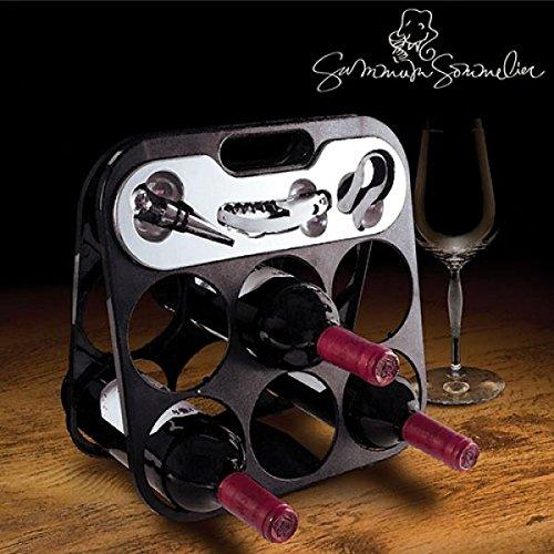 Range-bouteilles à vin pour 6 bouteilles avec équipement