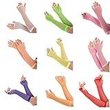 1 bis 6 Paare Fingerlose Lange Fischnetz Handschuhe für Erwachsene und Kinder in viele Farben!