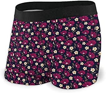 Yuanmeiju Mens Boxer Shorts Fitted Bragas Flowers of The Field Trunks Quick Dry Ropa Interior
