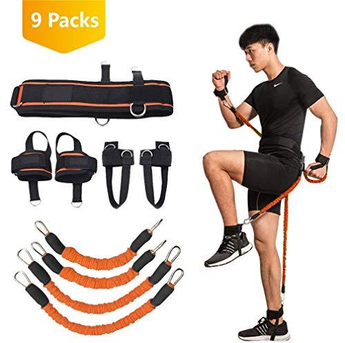 YNXing Krafttraining Seil für Boxen, Basketball, Fechten Ausbildung Widerstand Seil Blau Stretch Cord Zugseil Fitnessgeräte